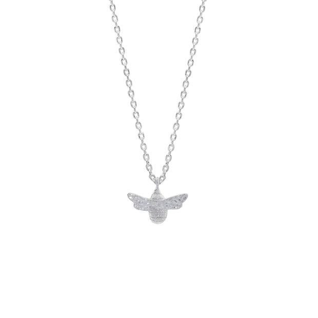 Bee Silver Plate Necklace  - Estella Bartlett