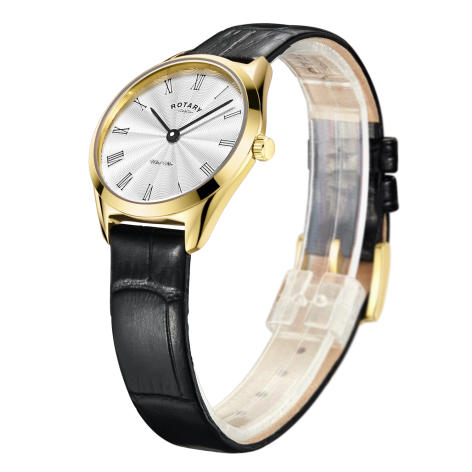 Ultra Slim Ladies Gold Plated Watch - Rotary