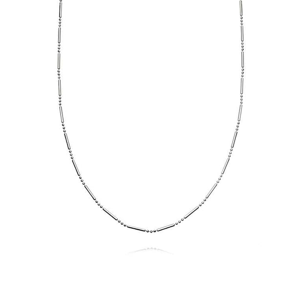 Simple Stacked Essential Sterling Silver Necklace - Daisy London