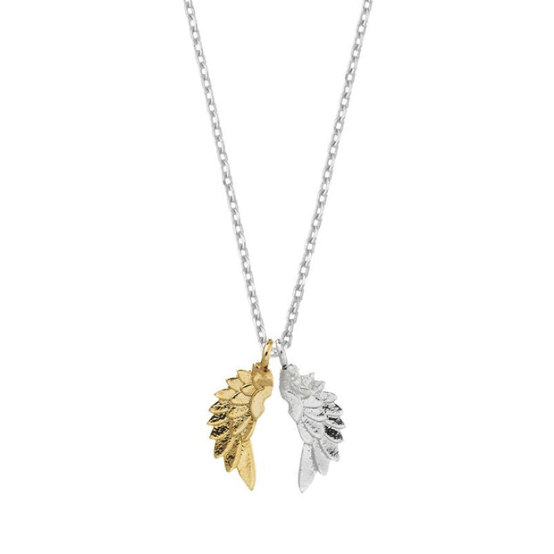 Wing Gold & Silver Plate Necklace  - Estella Bartlett