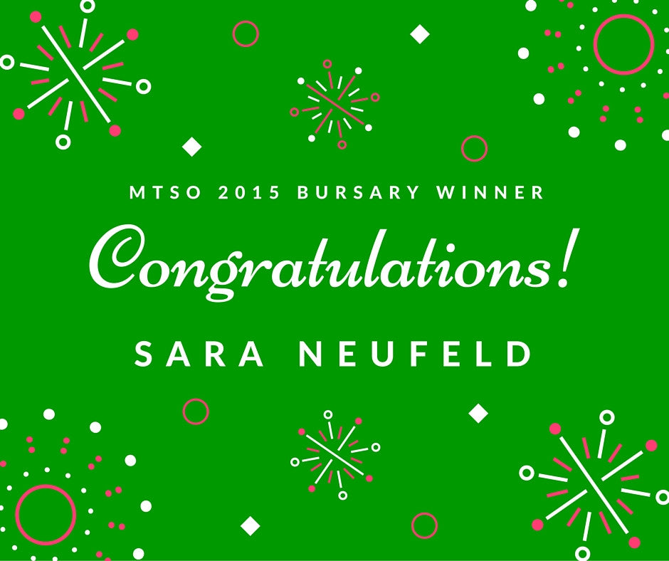 Our Bursary Winner: Sara Neufeld
