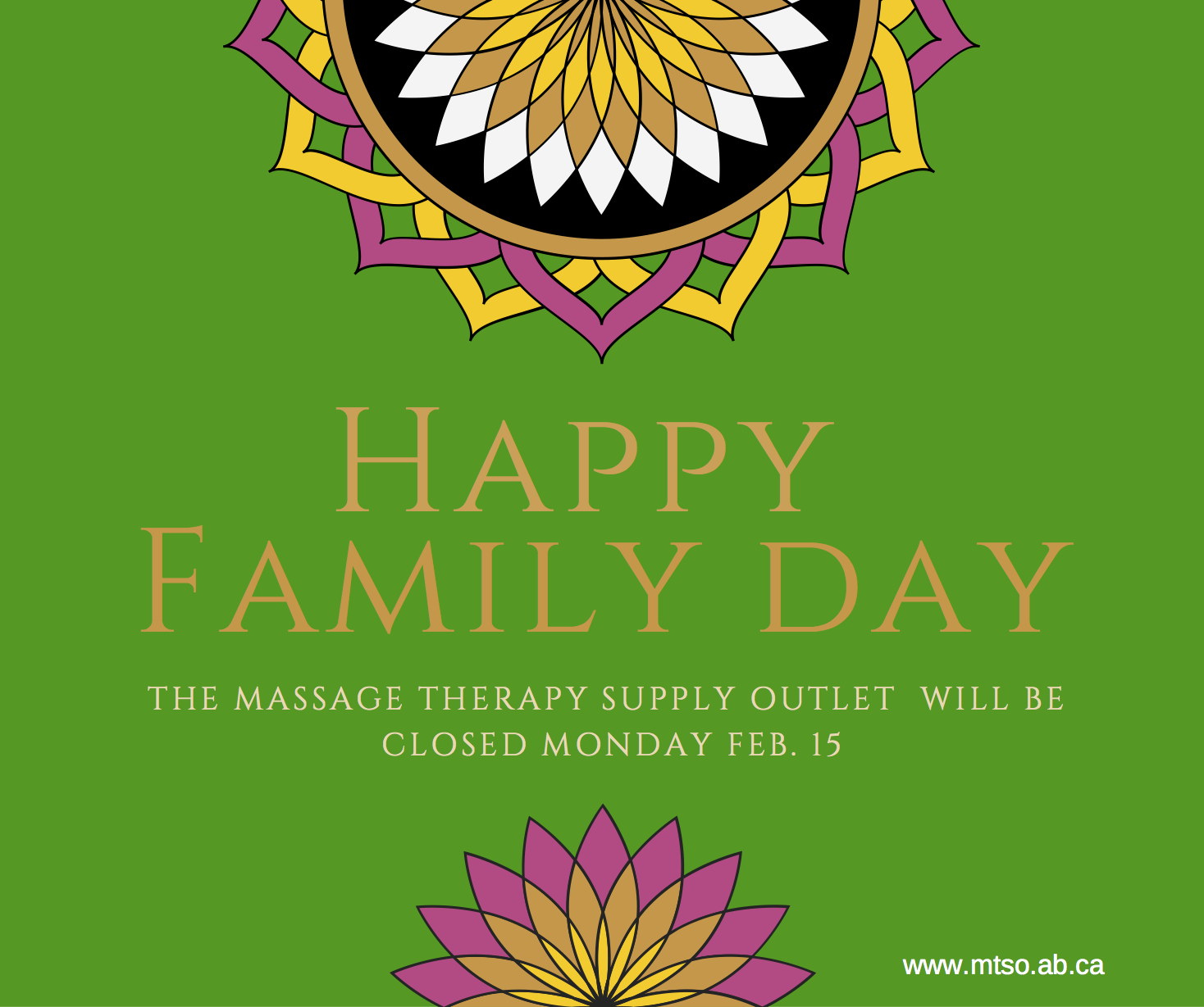 Closed for Family Day Monday Feb. 15