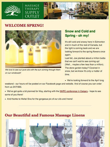 Welcome Spring! Our April Newsletter
