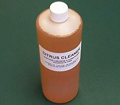 citrus cleaner removes oil from linens