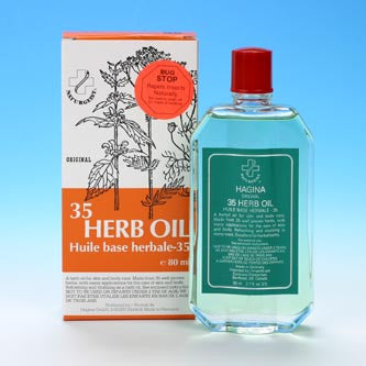 35 herb body oil from Hagina - a soothing oil that heats up and penetrates with active herbal ingredients.