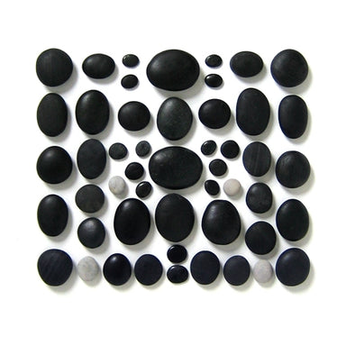 50-piece Basalt Stone Set