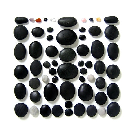 60-piece Basalt Stone Set