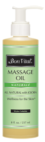 Naturale Massage Oil from Bon Vital - 8 oz pump