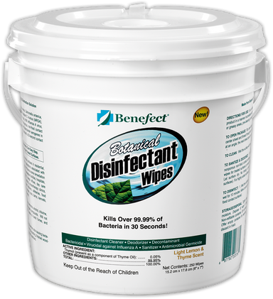 Benefect Botanical Disinfectant Wipes - 250 Sheets