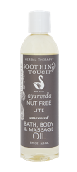 SOOTHING TOUCH  Nut Free Lite Massage Oil 8 oz
