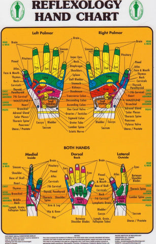 Hand Reflexology Chart ( Pacific Institute)