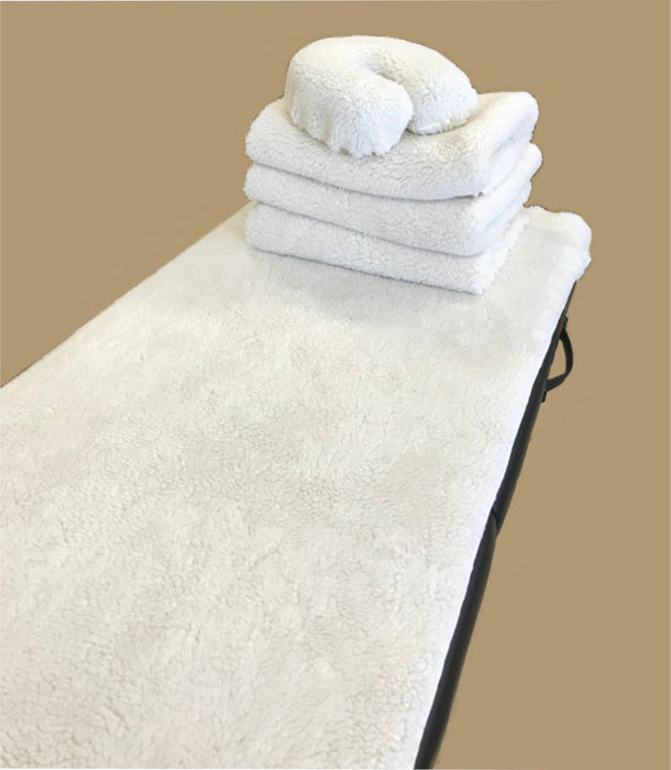 Fleece Set: Massage Table Cover and Face Cradle Cover