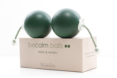 BeCalm Balls for use in relaxation and to create a still point therapeutic interruption of stress cycle