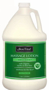 Organica massage lotion from Bon Vital - gallon size