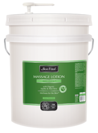 organica massage lotion from Bon Vital - 5 gallon size