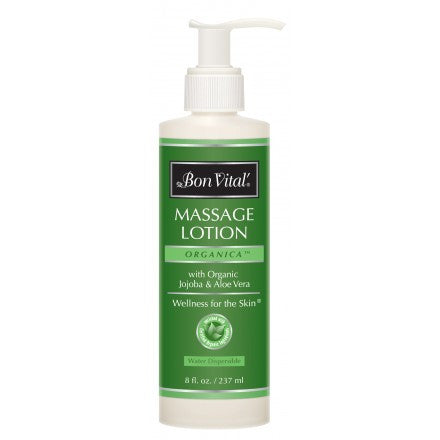 BON VITAL Organica Massage Lotion 8 oz Pump Bottle