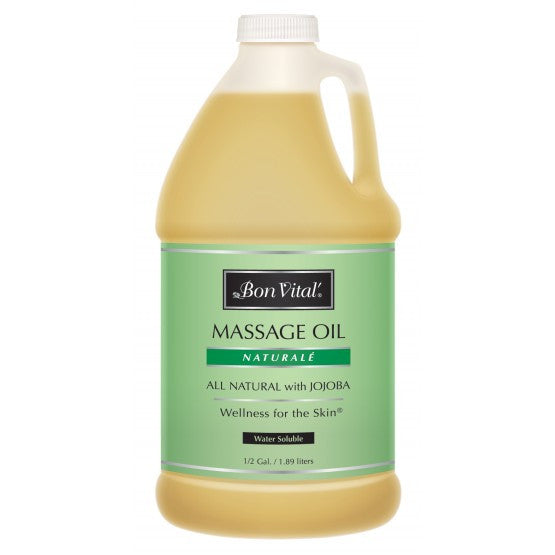 Bon Vital Naturale Massage Oil 1/2 Gallon Unscented