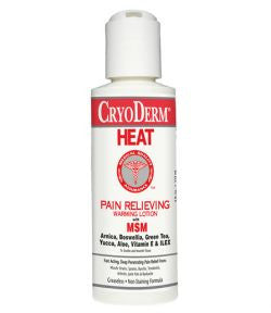 Cryoderm Heat Warming Lotion 4 fl.oz.