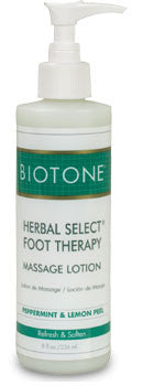 8 oz size herbal select foot therapy massage lotion from Biotone