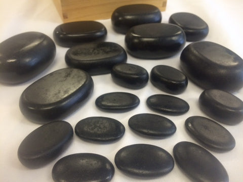 Twenty Piece Basalt Hot Stone Set