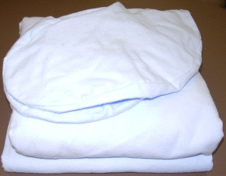 Extra wide flannelette sheet set for massage table