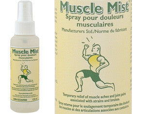 Muscle Mist herbal spray analgesic for muscle, sinus and headache