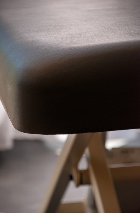 Closeup of rounded corners for Prairie Electric Massage Table