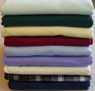 Flat flannelette sheet for massage table, in various colours