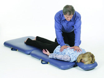 Shiatsu bodywork with the Pisces New Wave II Lite Massage Table