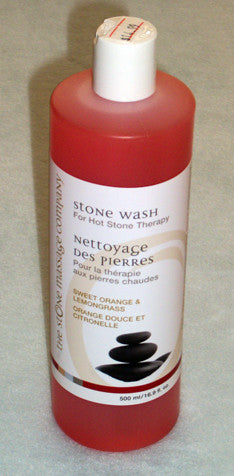 orange and lemongrass cleaner for massage stones