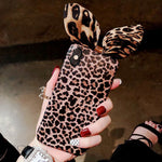 Luxury leopard apple 8plus mobile phone shell female iphonxR all-inclusive anti-fall 6s soft shell personality creative 7 tide max