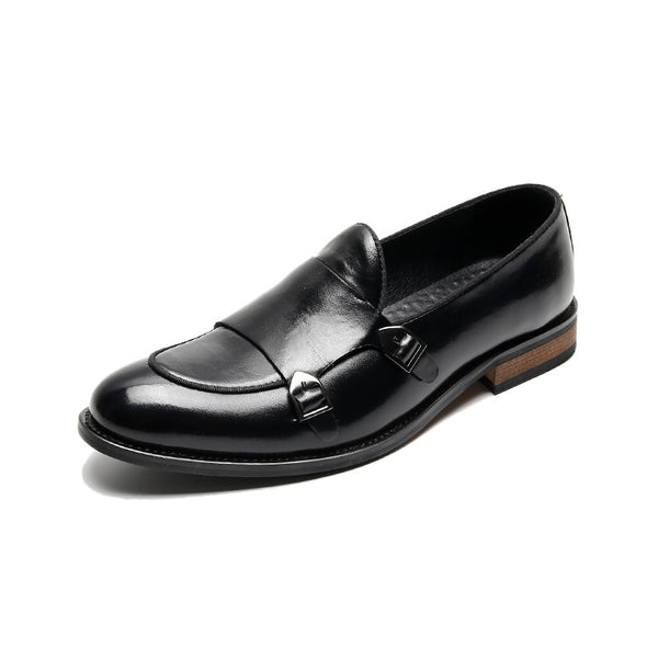 Simple Men's Business Buckle Shoes
