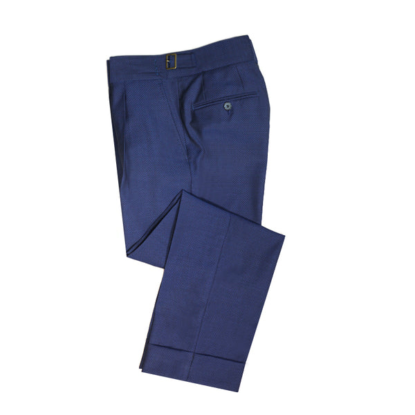 Blue wool Gurkha Pants