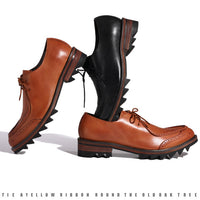 Custom Made British Style Leather Brock Men's Shoes
