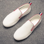 Summer One-Foot Men's Casual Breathable White Shoes