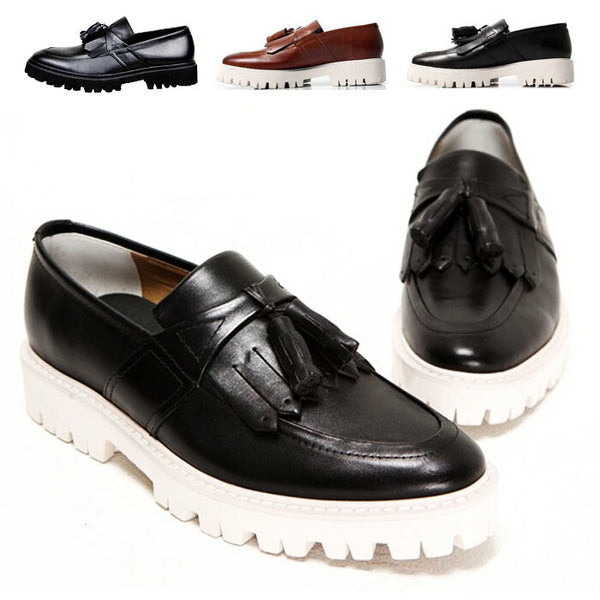England Tassel Leather Shoes