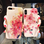 Blu-Ray Flash Epoxy Peach Phone Case For Iphone 6s, Iphone  6splus, Iphone X , 7plus/8, Iphone 8plus,