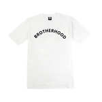 "T-SHIRT ""BROTHERHOOD"" EN IMPRESSION VELOURS - BLANC"