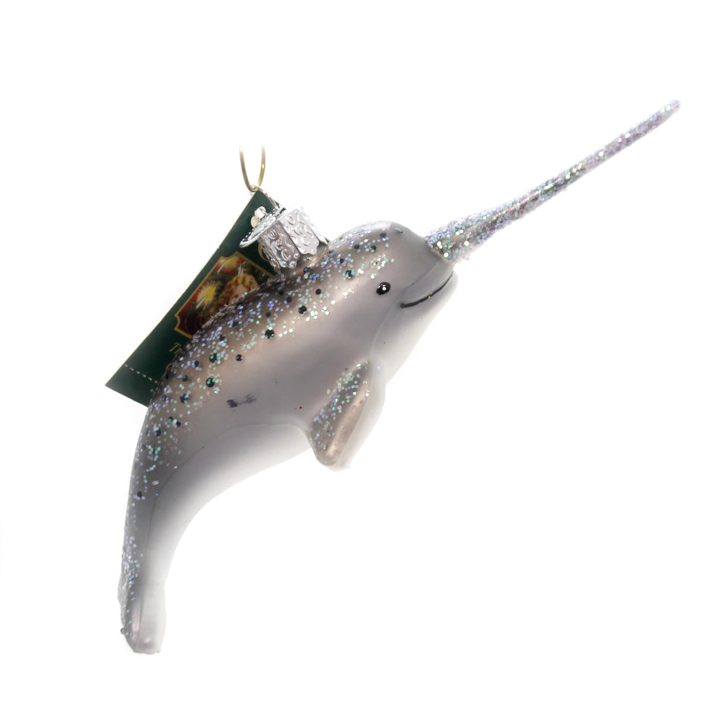 old world christmas narwhal glass ornaments