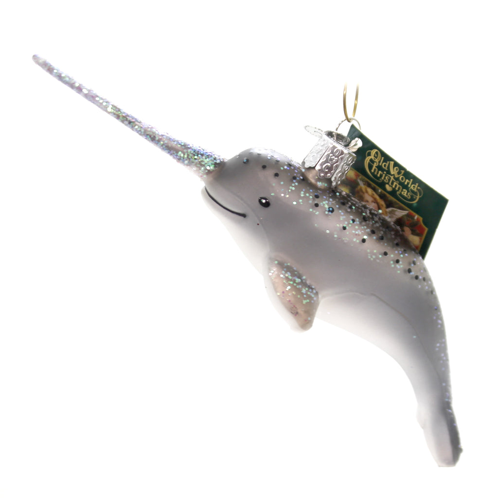 old world christmas narwhal glass ornaments jpg 1024x1024 glass narwhal