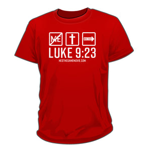 Luke 9:23 Red shirts