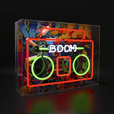 """Boom Box"" Acrylic Neon Light"