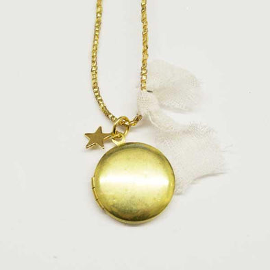 Golden Locket Necklace
