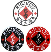 Shinobi-Five Elements Sanshin Kanji Patch. Perfect for Ninjutsu, Budo Taijutsu and Ninpo!