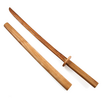 Ninja Shoto-Wakazashi with Scabbard (Hardwood). Perfect for Ninjutsu, Budo Taijutsu and Ninpo!