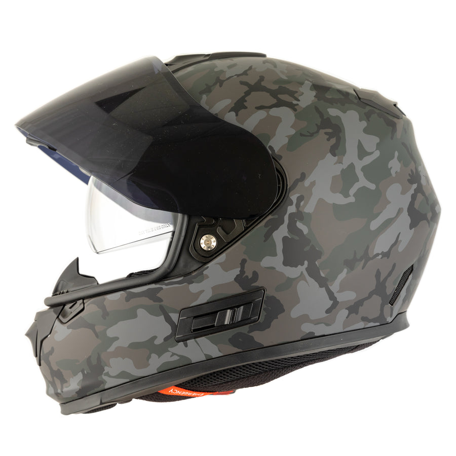 Lightweight GRP Motorcycle Helmet
