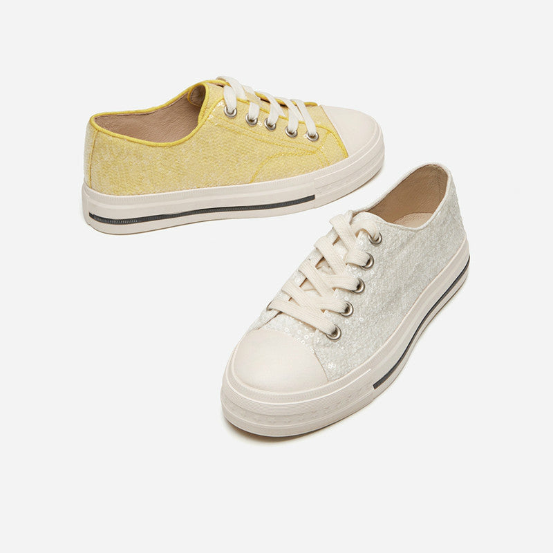 2019 Spring women's sneaker round toe leather lining SH13W9501