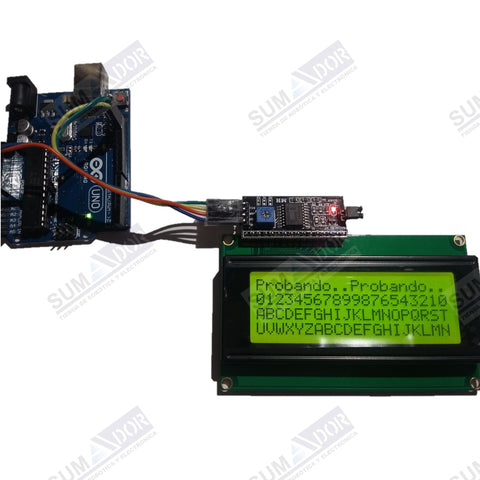 PFC8574 example ejemplo arduino LCD