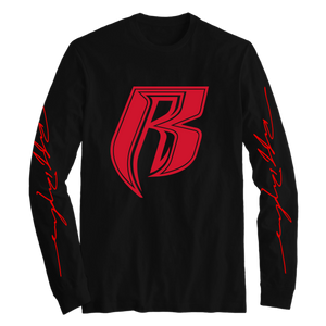 R Black Long Sleeve - Ruff Ryders