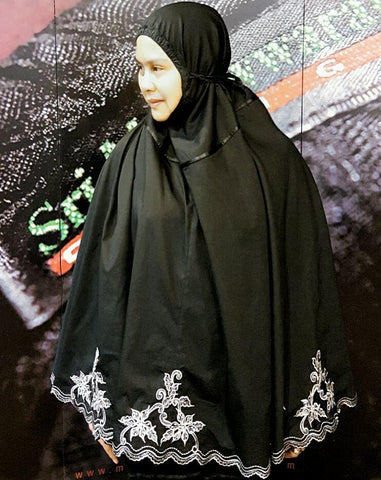 Telekung with Organza embroidery